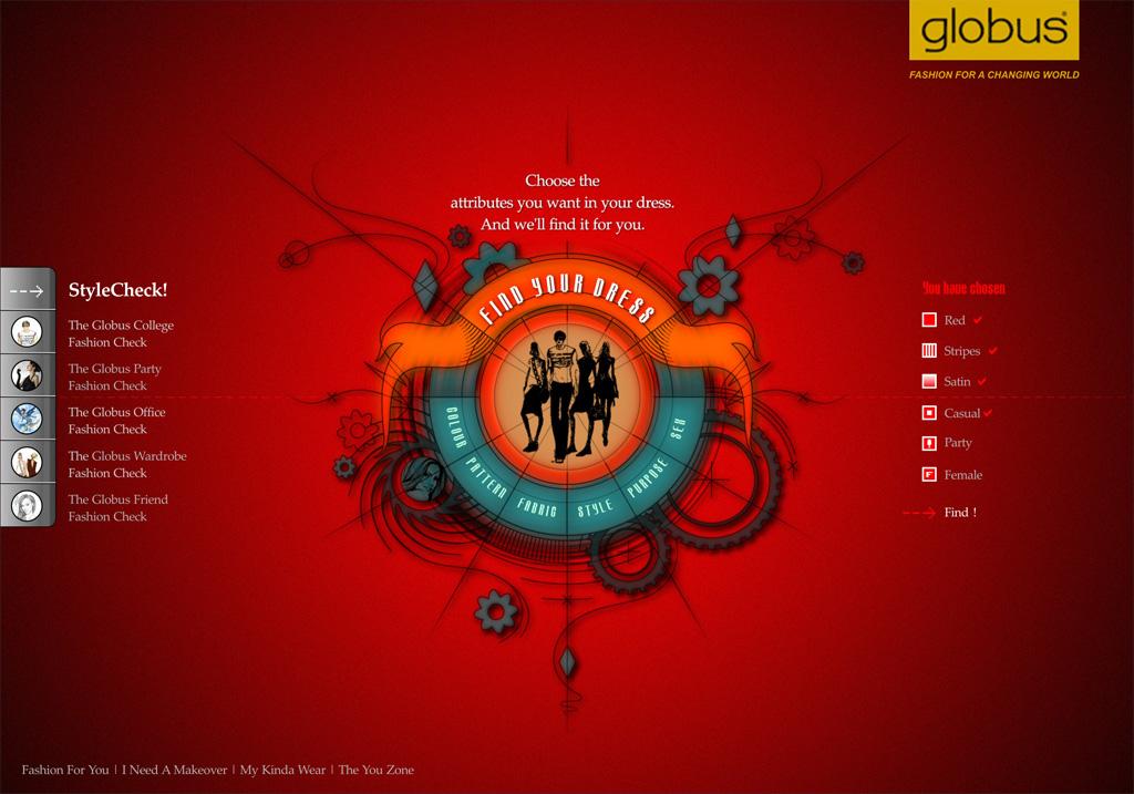 Globus Interactive Website